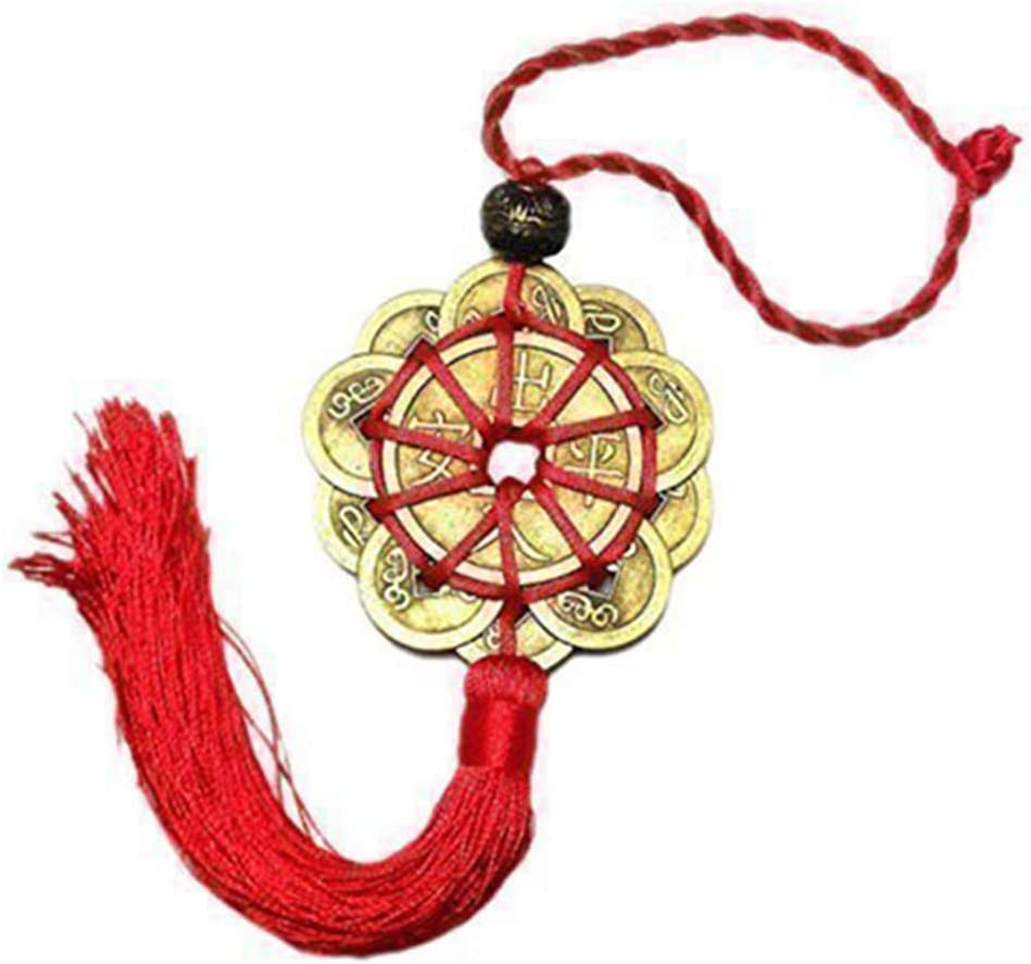 Lucky Coin Hanging Ornament Chinese Knot Auto Pendant Feng Shui Pendant Home Decor Festival Ornament