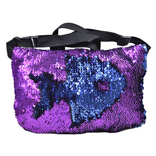 purple sequin fanny pack - 1