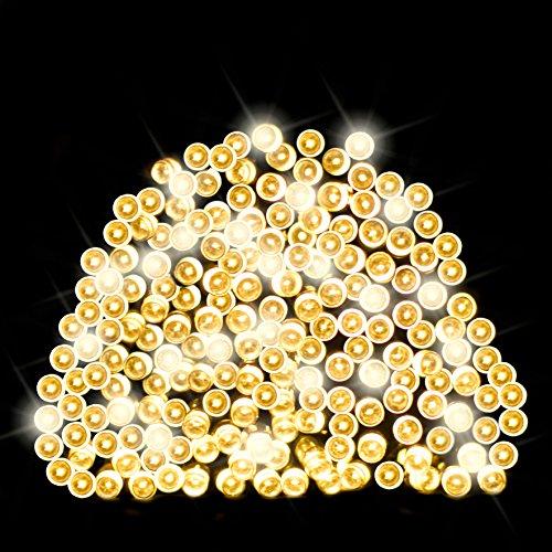 Lichterkette aus 200 solarbetriebenen Warmlicht LED Lichtern von SPV Lights: Der Solarlicht- & Beleuchtungsspezialist (2 Jahre kostenlose Gewährleistung inklusive)