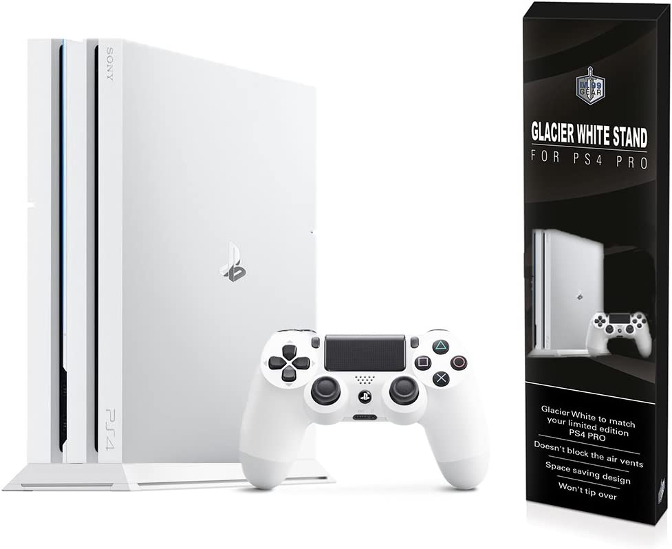 Amazon Com Ps4 Pro Glacier White Stand Playstation 4 Pro