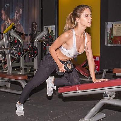 Elitemill Pantalones Yoga, Mujer Anticelulitis Mallas Compresión Corte Slim Trasero Levantar Elástico Pantalones: Deportes y aire libre