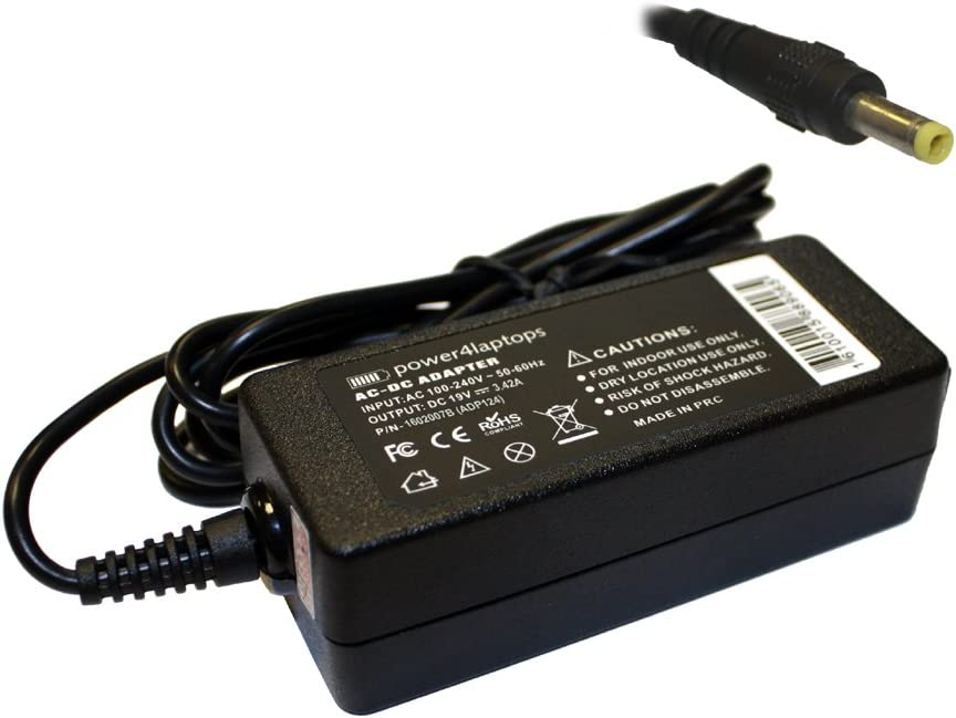 Power4Laptops AC Adapter Laptop Charger Power Supply Compatible with Asus K556UR-XX269T, Asus NovaGo TP370QL-6G128G, Asus NovaGo TP370QL-EL001T, Asus NovaGo TP370QL-EL002T, Asus P1510U