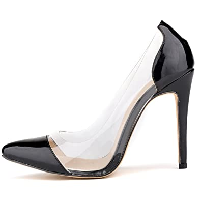d3a723587baa ZriEy Sexy Women s Patent Pointy Toe Stiletto Fashion Pumps Shoes Black  Size 9.5