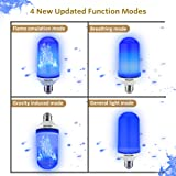 Texsens LED Blue Flame Effect Light Bulbs - 4 Modes