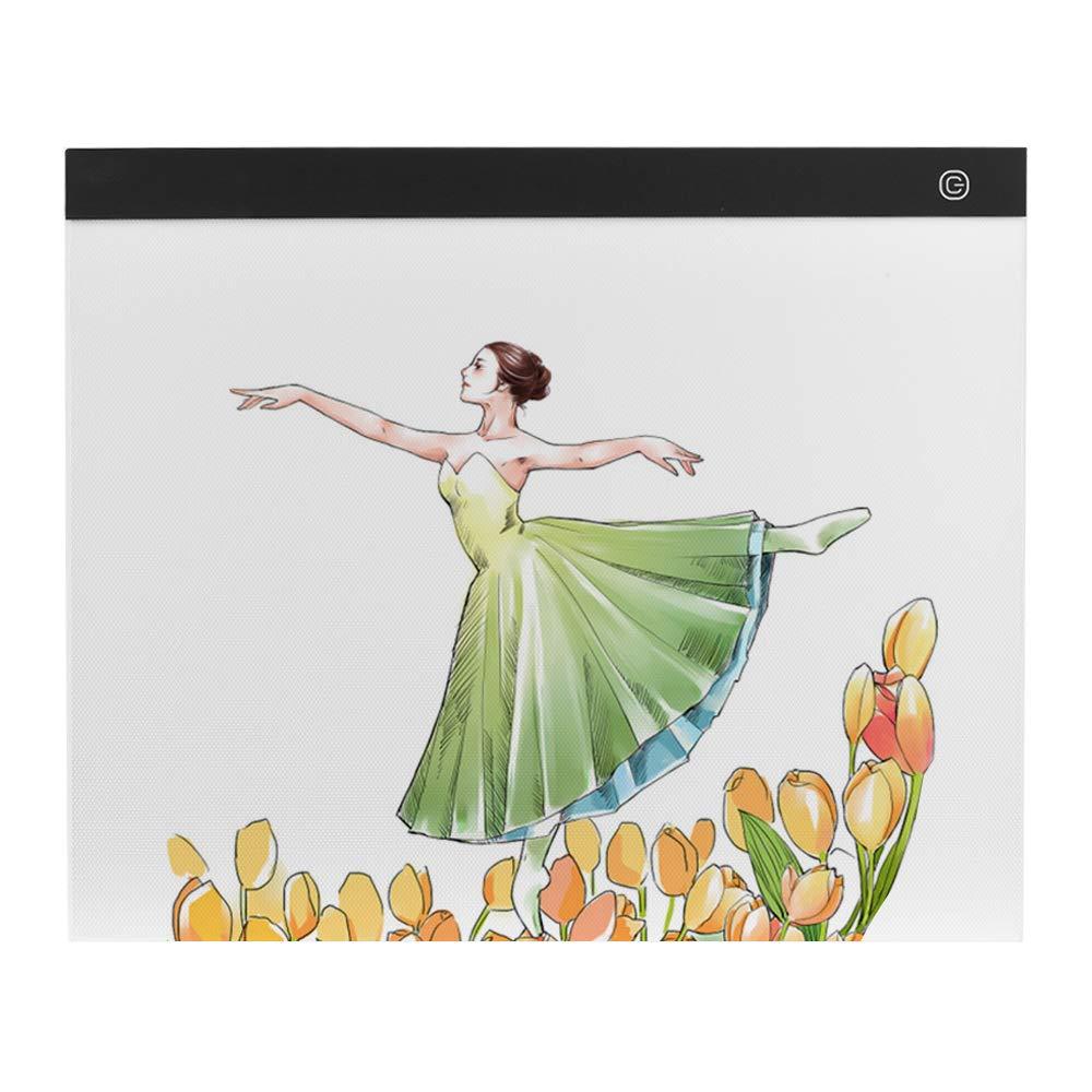 Aibecy A3 Scatola luminosa di grandi dimensioni LED Artcraft Tracing Pad luce Calpestio senza gradini Protezione occhi per Tatoo Diamond Painting Drawing Sketching Animation