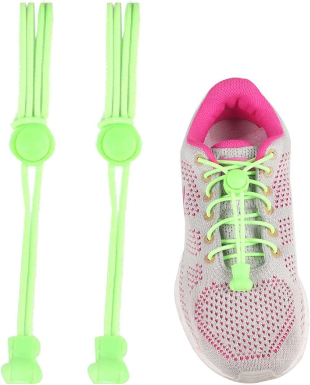 Elastic Locking Shoelaces Shoe Laces Trainer Running Jogging Hiking Sporting NEW