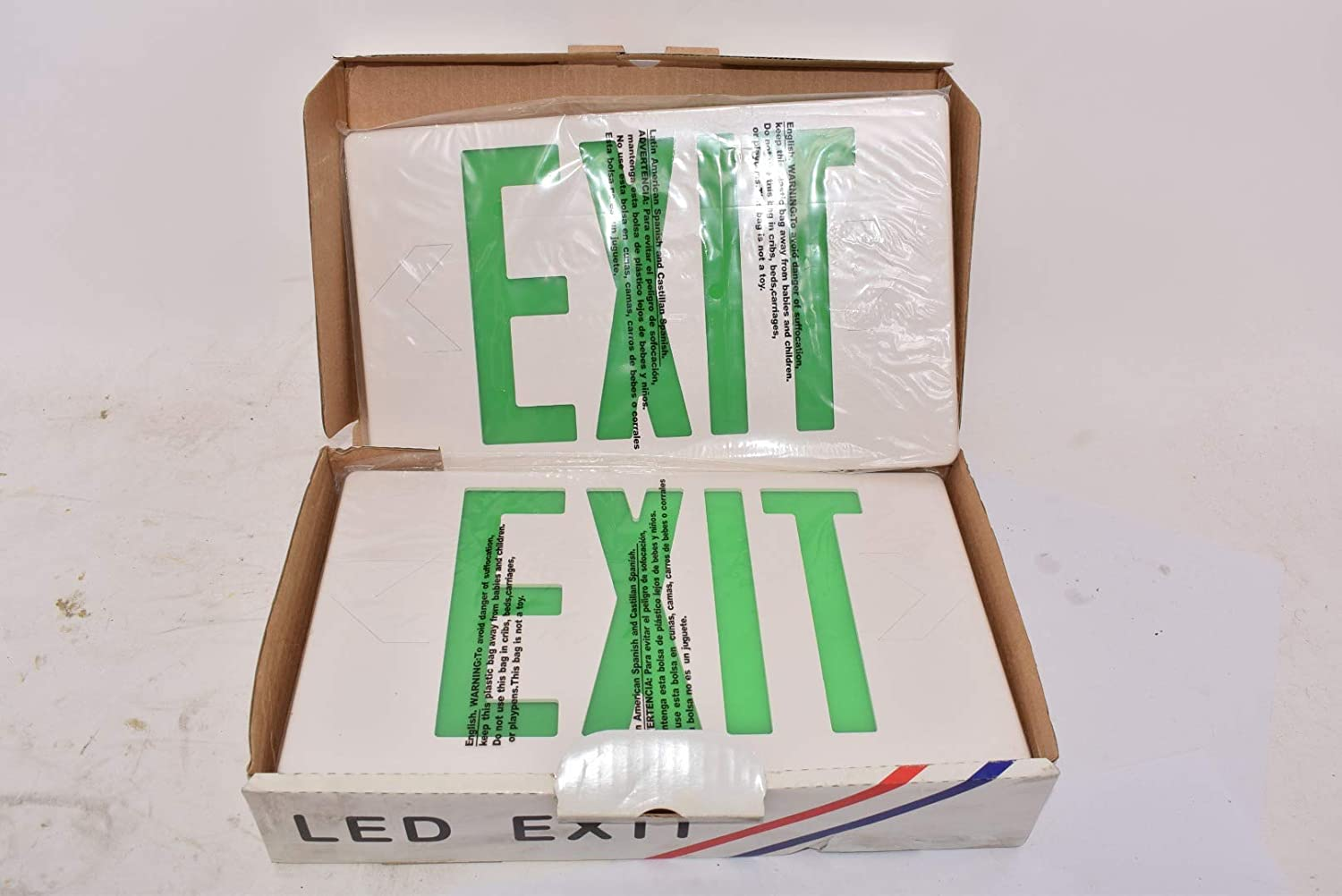 Amazon.com: SKYLINE LIGHTING Green EXIT Fixture W/Battery ...
