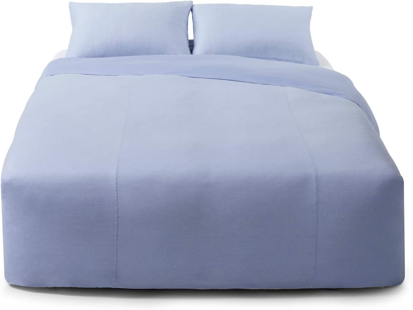 Calvin Klein Home Modern Cotton Ray Duvet, King, Periwinkle/Cream