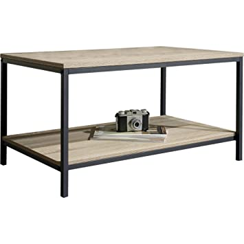 Amazon Ermont Wooden Coffee Table in Durable and Black Metal