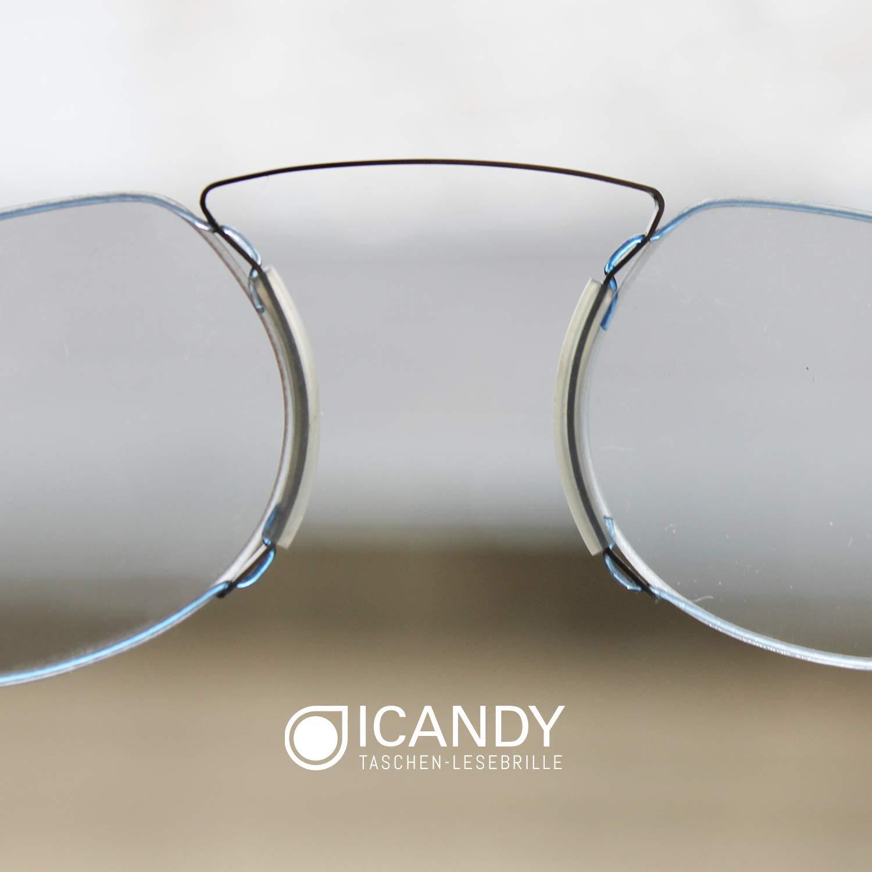ICANDY Pocket Reading Glasses Sporttaschen & Rucksäcke Praktische Lesebrille mit Halterung zum überal
