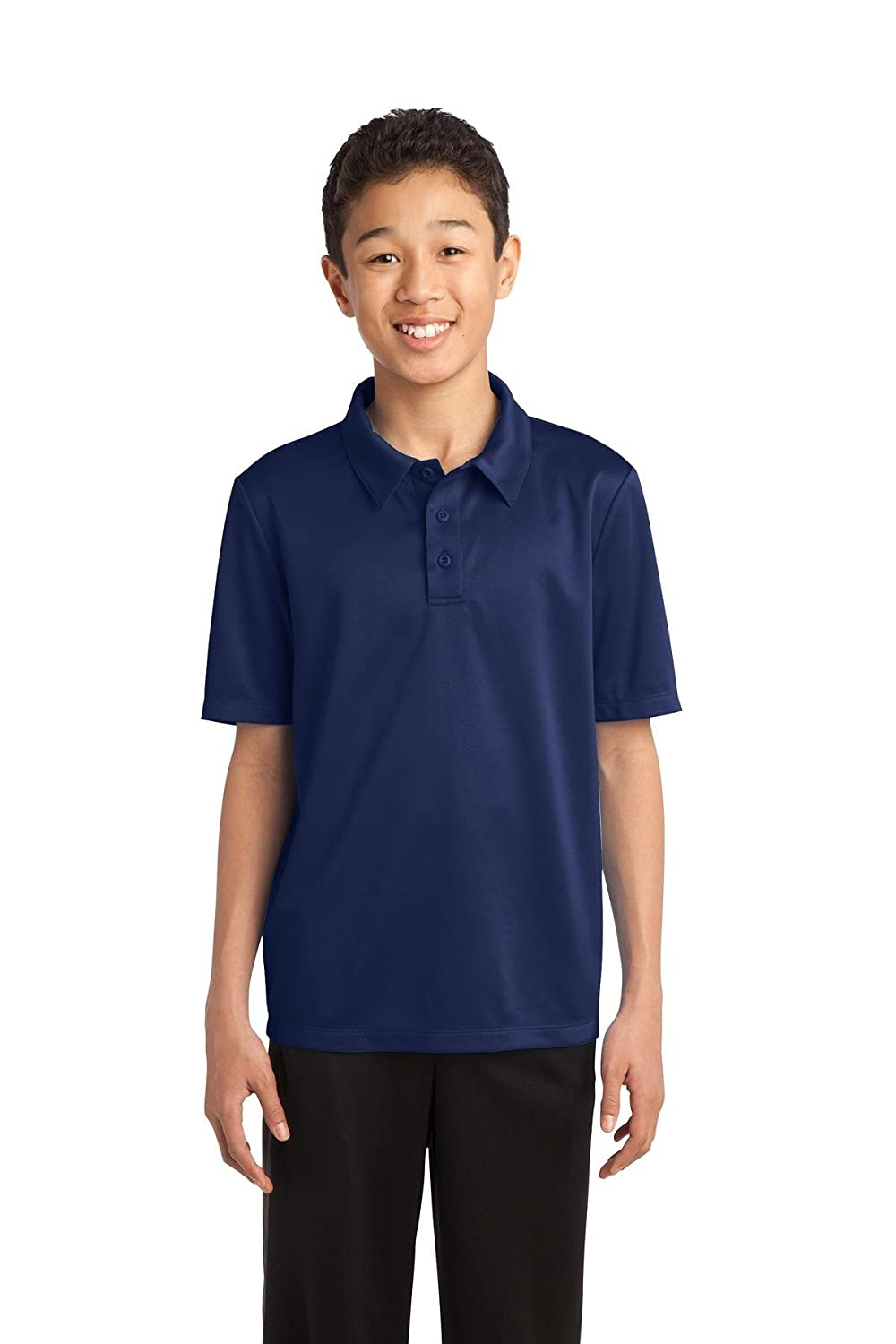 Port Authority Youth Silk Touch Performance Polo Y540 Navy M