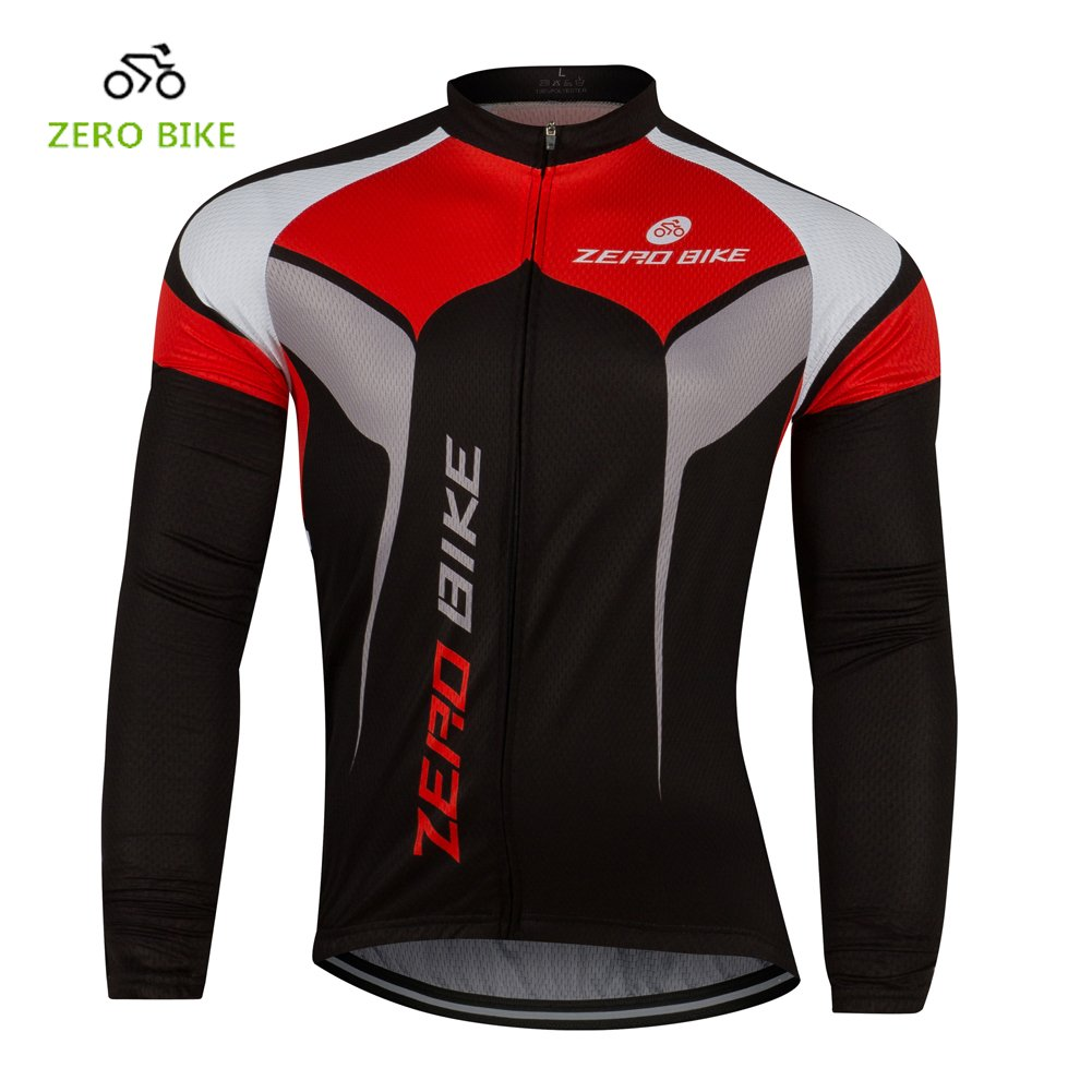 ZEROBIKE Men Mesh Cycling Clothing Breathable Long Sleeve Sportswear Cycling Jersey Cool Perspiration Fast Drying Mesh Cloting Homieco