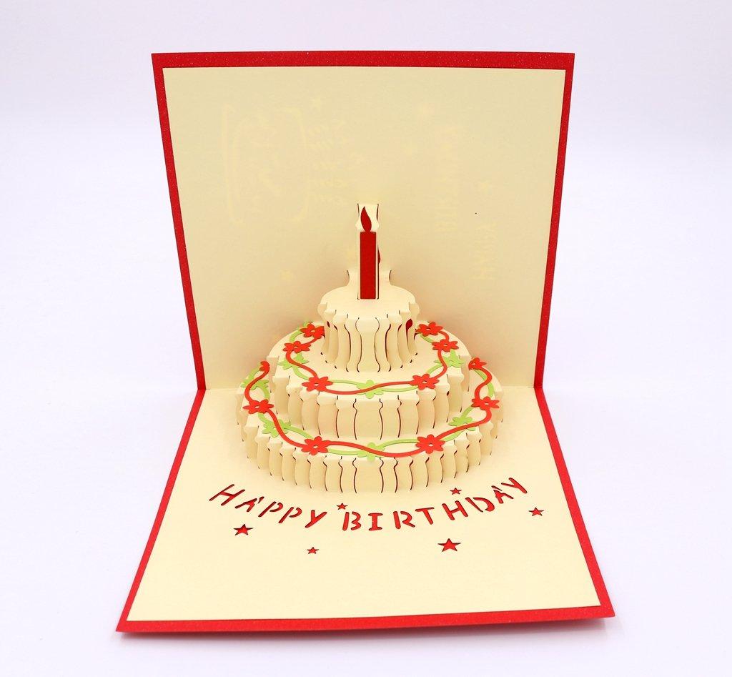 Amazon Isharecards Handmade 3d Pop Up Birthday Cards Creative