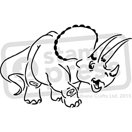 amazon com a4 triceratops wall stencil template ws00009931