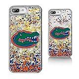 Keyscaper NCAA Florida Gators KGLG7X-0FLA-FETTI1 Apple iPhone Glitter Case, iPhone 8 Plus/7 Plus/6 Plus, Clear