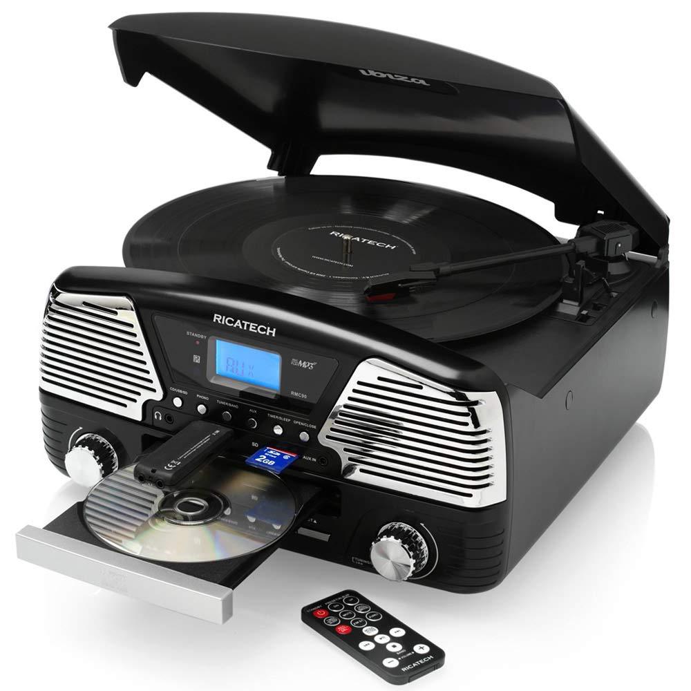 Ricatech RMC90 Negro tocadisco: Turntable: Amazon.es: Electrónica