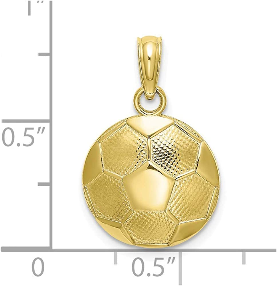 FB Jewels 10K Yellow Gold Polished and Textured Special Pendant