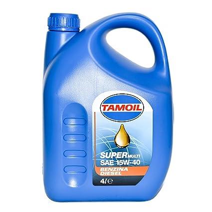 TAMOIL 4Lt Aceite mineral de motor Super Multifuel 15W-coche 40 gasóleo, gasolina,