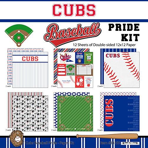 - Scrapbook Customs Cubs Pride Baseball Scrapbook Kit