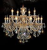 Cheap Generic Island Lights Crystals Chandelier 15 Lights Ceiling Fixtures Color Cognac