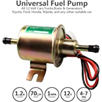 Bomba de combustible eléctrica en línea universal de 12 V para gasolina, diésel, gasolina y diésel, de 4 a 7 psi), 380 bobinas de cobre circulares, corriente de 1,0-2,0 A