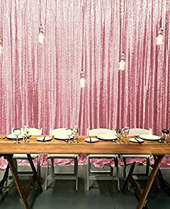 ShinyBeauty Sequin Backdrop Pink Gold 8FTx10FT,Sparkly Sequin Fabric  Backgrounds Decoration,Romatic Sequin Curtain Backdrop For Wedding Photo  Booth (Pink ...