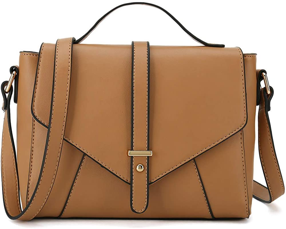 STUOYE PU Leather Crossbody Bags for Women Medium Shoulder Purse Bag with Tassel