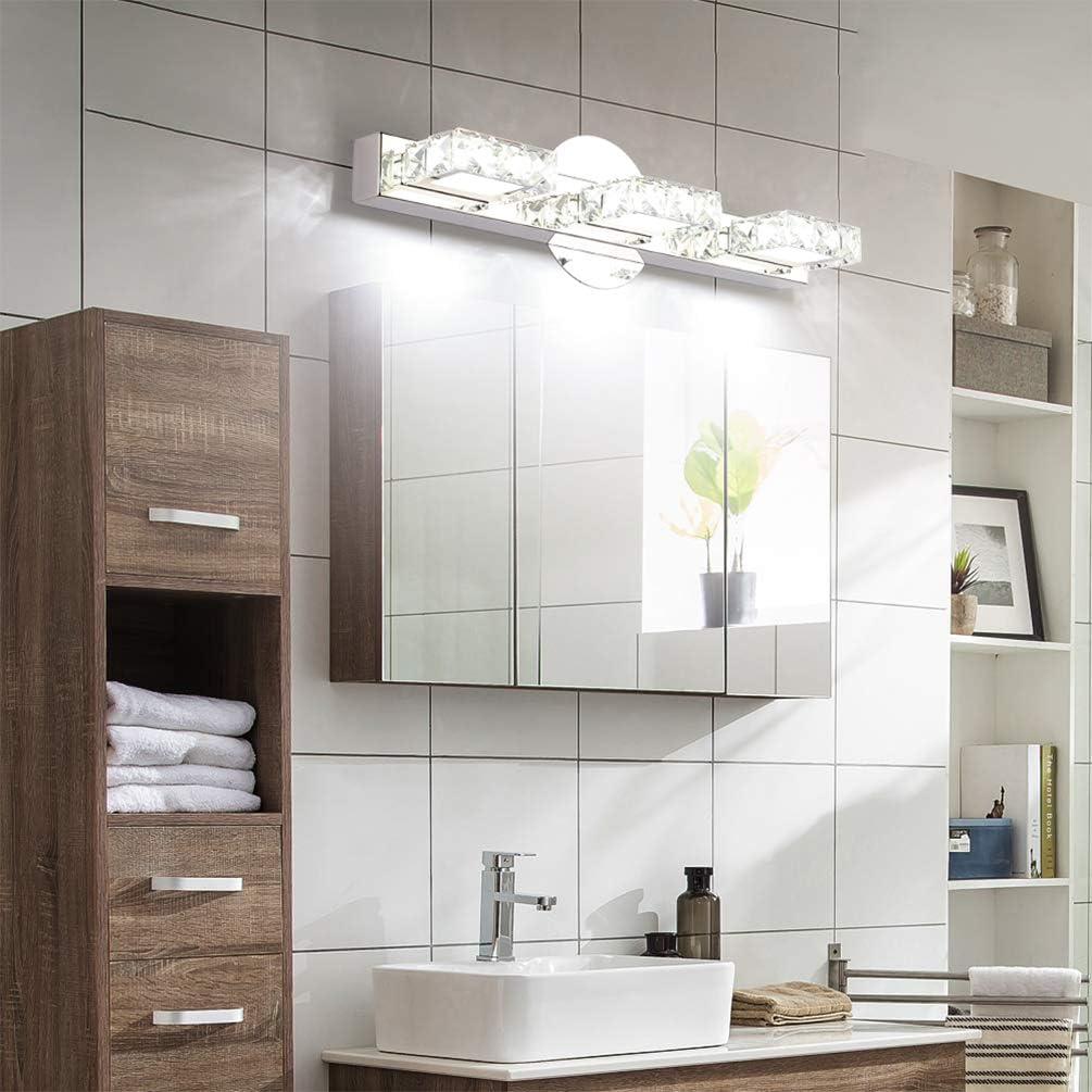 Bathroom Vanity Light Aipsun 24 4 Inch Crystal Vanity Lights Modern Led Vanity Lights For Bathroom Lighting