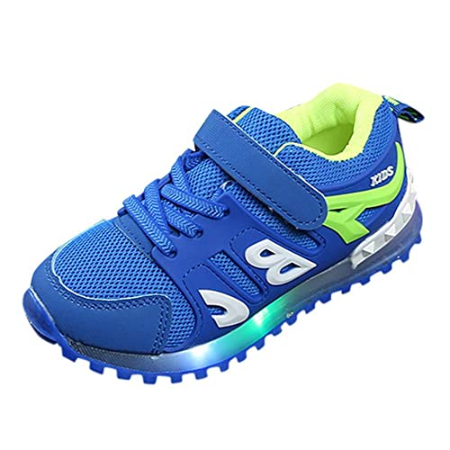 Zapatillas Niño con Luces Led Niña Zapatos de Deportivas Casaul Zapatos Talla 21-19 (