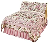 Pretty Peony Floral Quilt, Pink Flowers, Twin