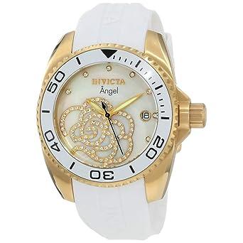 Invicta 0488 Angel Reloj para Mujer acero inoxidable Cuarzo Esfera blanco: Amazon.es: Relojes