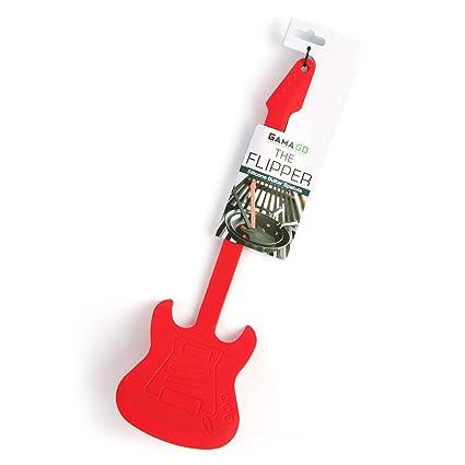 Gama Go Guitarra Flipper Espátula de silicona, color rojo