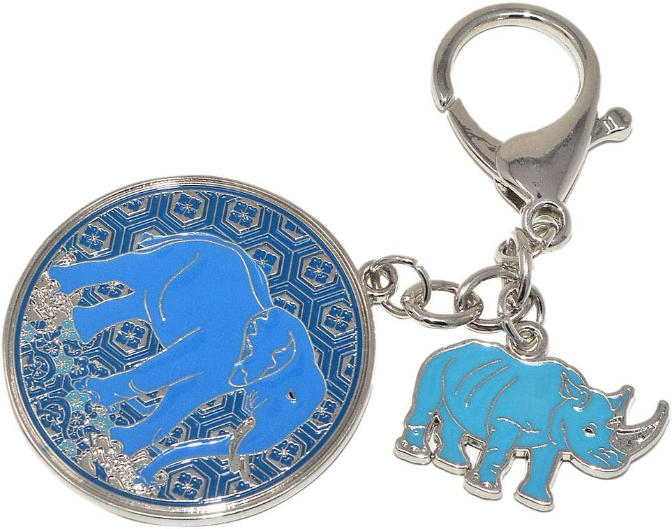 Feng Shui Anti Robbery Amulet with Blue Rhino&Elephant W4138