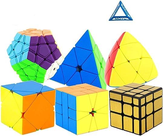HXGL-Cubos Mágicos Cubo De La Velocidad Bundle Pyramorphix Sq1 Espejo Oblicuo Cubo Megaminx Pirámide Cubo Colección Rompecabezas Cubo Regalo De Los Juguetes For Niños De Estudiantes Adultos 6 Pack: Amazon.es: Hogar