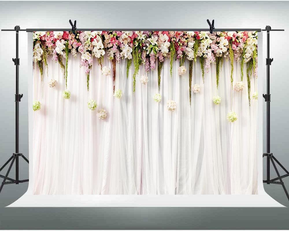 Atongham Champagne Tulle Chiffon Backdrop for Bridal Shower Wedding Ceremony Backdrops Curtains Newborn Baby Shower Backdrop Photo Booth Background Photography