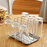 Stainless steel glass water Cup holder drain rack kitchen glass frame tray Cup holder included