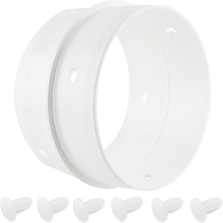 Spares2go Kit de conexión de manguera de ventilación doble anillo para Zanussi secadora