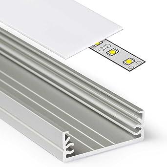 Top 2m Aluprofil WIDE (WI) 2 Meter Aluminium Profil-Leiste eloxiert TY59