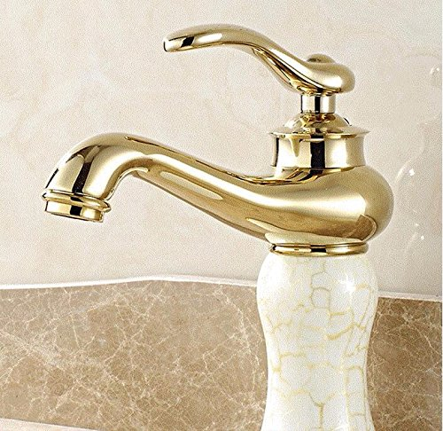 AWXJX Washbasin Hot And Cold Jade Bathroom Single Hole Single Handle Blender Copper Sink Taps by AWXJX Sink faucet
