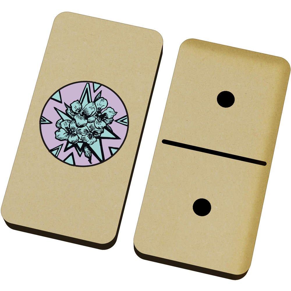 Azeeda 'Floral Motif' Domino Set & Box (DM00018145)