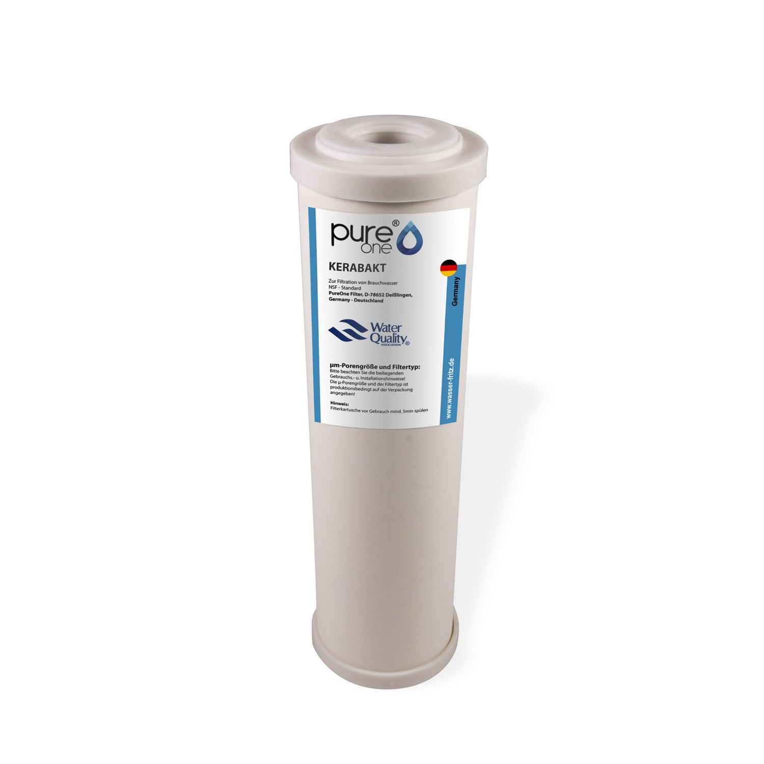 Germ filtration spores and pathogens 10 inches. viruses cistern Filter housing with ceramic filter cartridge For rainwater well water PureOne KBS1 Kerabact Kit 1/step filter system