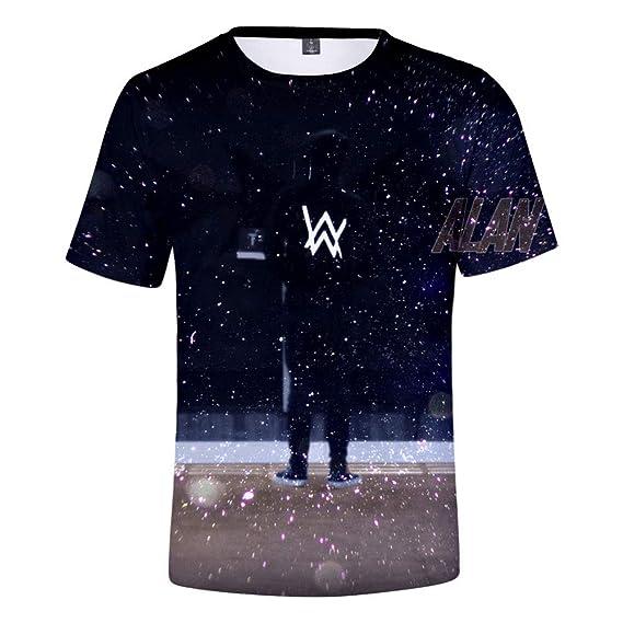 Boys Shirts A-LAN Walker Girls Tee Shirt Youth Short Sleeve Teenager Youth T-Shirts Top