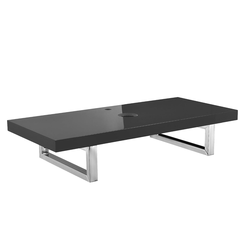 [neu.haus] Meuble sous vasque - console pour meuble sous vasque [100x45cm] gris brilliant de MDF + acier inoxydable