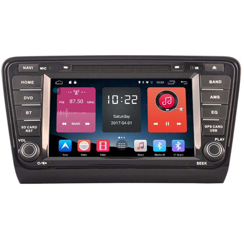 Autosion In Dash 8 Inch Android 6.0 Tablet Car DVD Player Radio Head Unit GPS Navigation Stereo for Skoda Octavia III A7 2013 2014 2015 2016 Support Bluetooth SD USB Radio OBD WIFI DVR 1080P