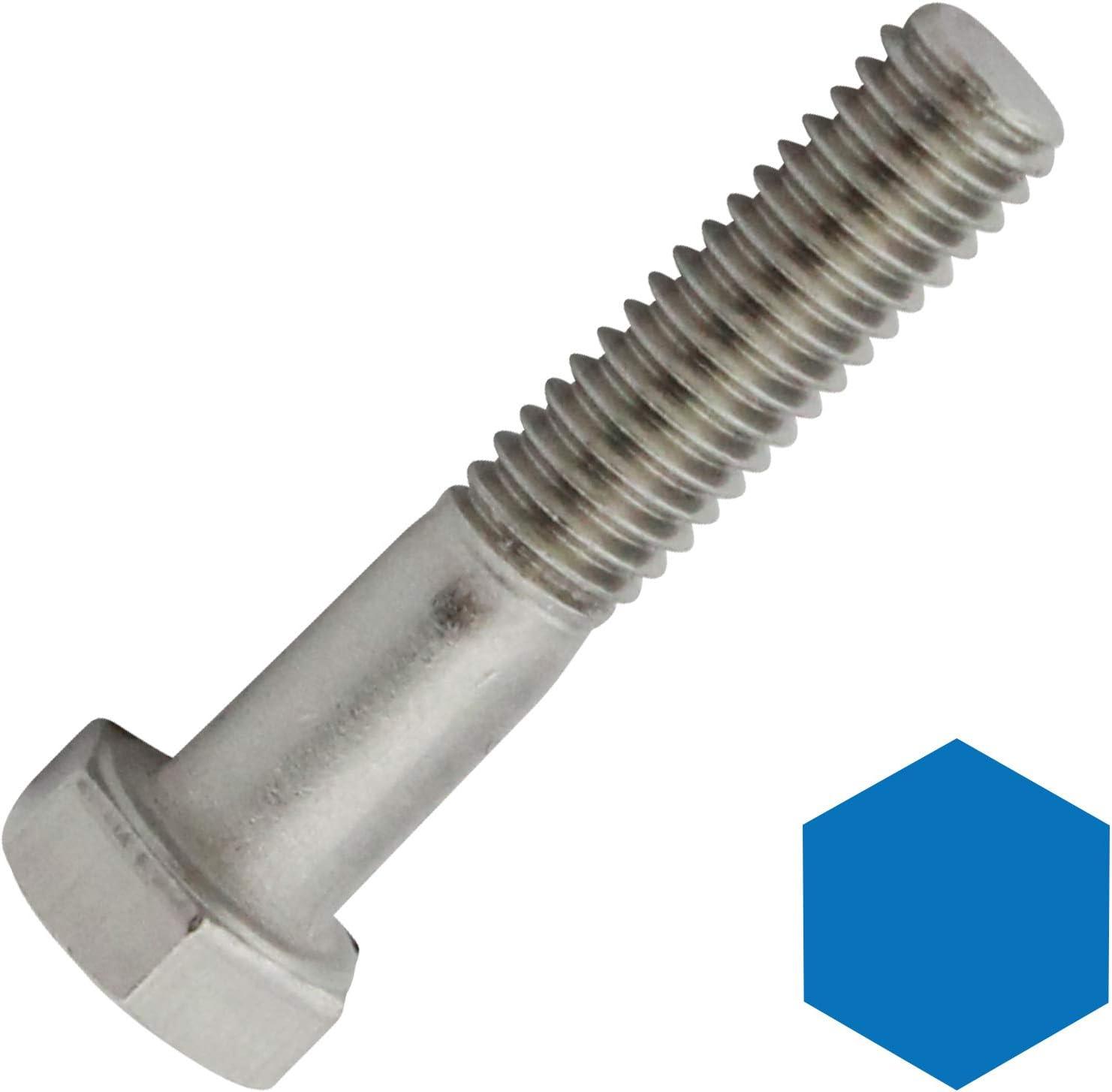 V2A ISO 4014 en acier inoxydable A2 Lot de 4 vis /à t/ête hexagonale avec tige DIN 931