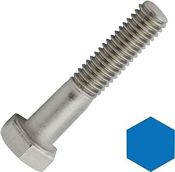 DIN 931 // ISO 4014 D2D aus rostfreiem Edelstahl A2 V2A Maschinenschrauben VPE: 4 St/ück Sechskantschrauben mit Schaft M12x70