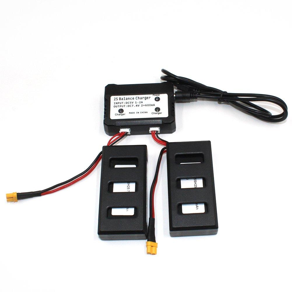 Batterie DE 7.4V 1300mah 25C pour la capacit/é /Élev/ée de Bourdon de Quadcopter de BJ B6 B8 de MJX