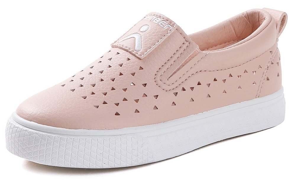 InStar Kids' Casual Cut Out Round Toe Low Cut Slip on Sneakers Loafers Shoes Pink 10 M US Toddler