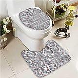 VROSELV U-shaped Toilet Mat-Soft Teen Interior Of Princess Bedroom ed Ornament Pillow Lamp Mirror 2 Piece Toilet Toilet mat