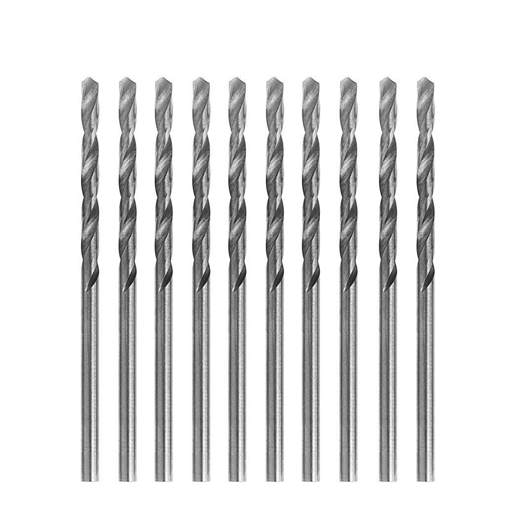eje cil/índrico microHSS Juego de 10 brocas multifuncionales peque/ñas 0,6 mm